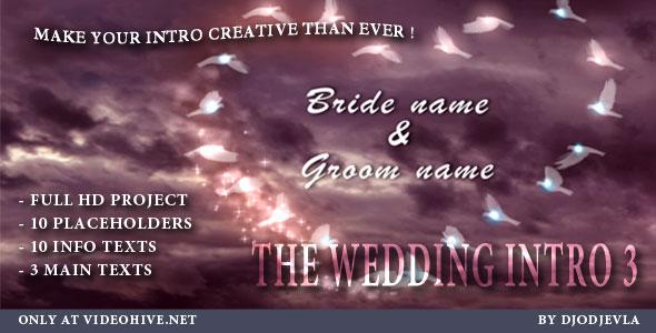 VideoHive The Wedding Intro 3