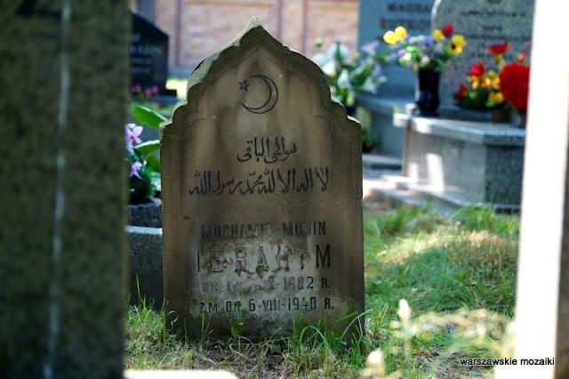 Warszawa Wola cmentarz Tatarska groby nagrobki muzułmanin