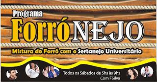 PROGRAMA FORRÓNEJO TODOS OS SÁBADOS DAS 05:00 ÁS 09:00 DA MANHÃ COM FSILVA NA RÁDIO CAICÓ AM