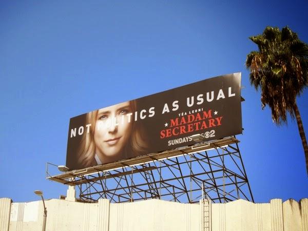 Madam Secretary series launch billboard
