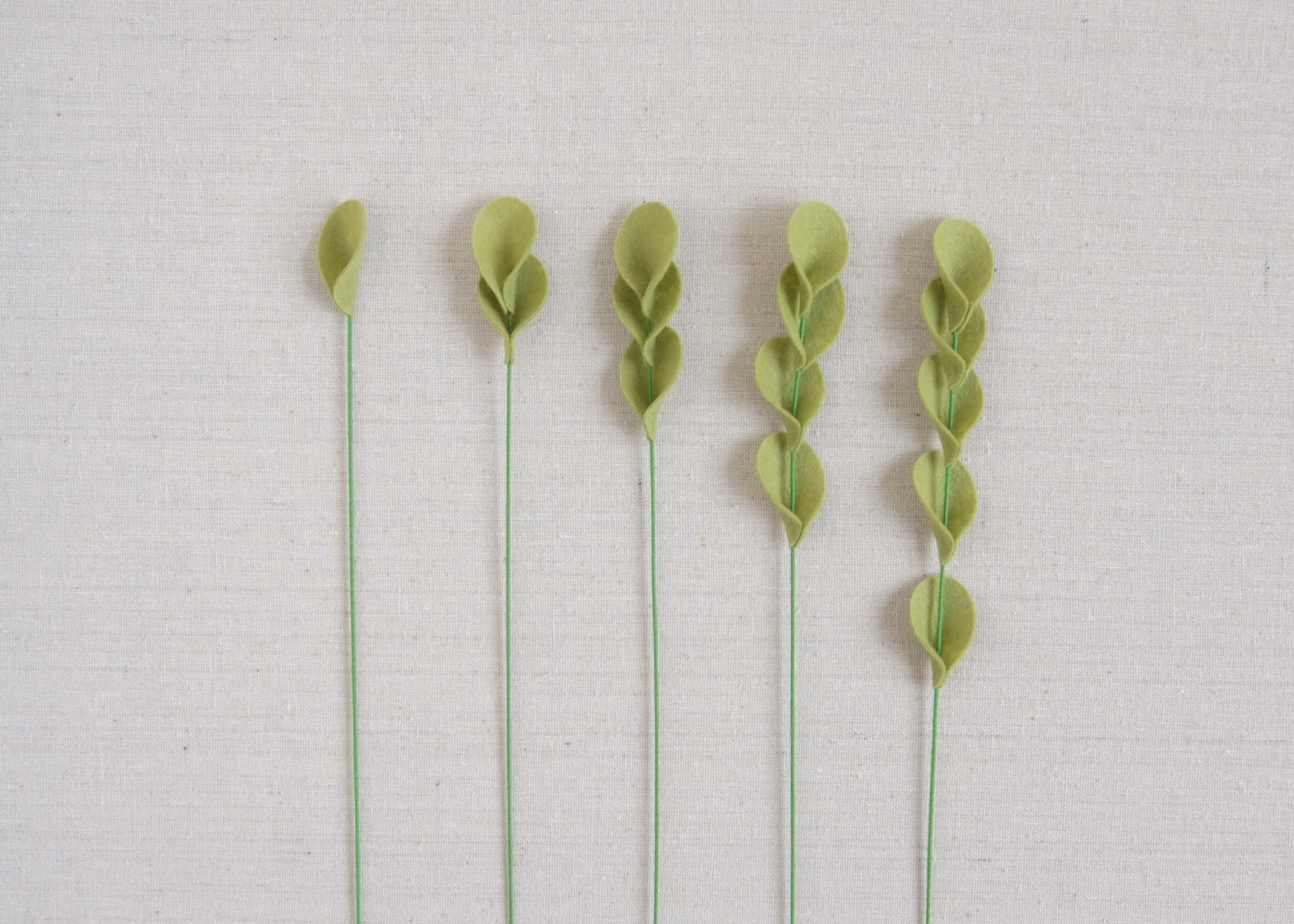 Felt fill stems for bouquets