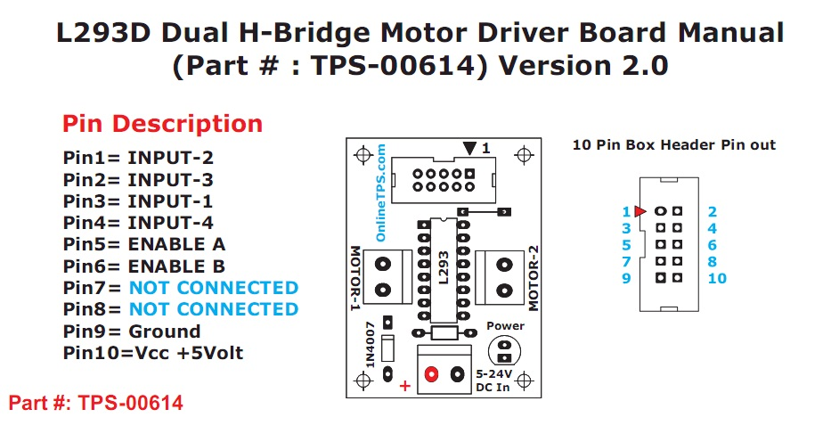 L293d dual h bridge motor driver datasheet wroc awski for L293d motor driver datasheet