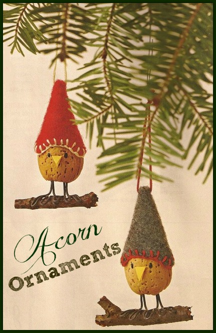How to make acorn christmas ornaments christmas for How to make acorn ornaments
