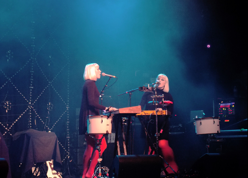 The band Lucius at The Madison Theatre, May 2014