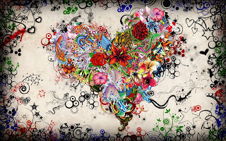 Stars Flowers Heart Emotions Colorful HD Wallpaper