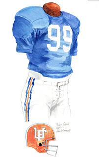 1975 University of Florida Gators football uniform original art for sale