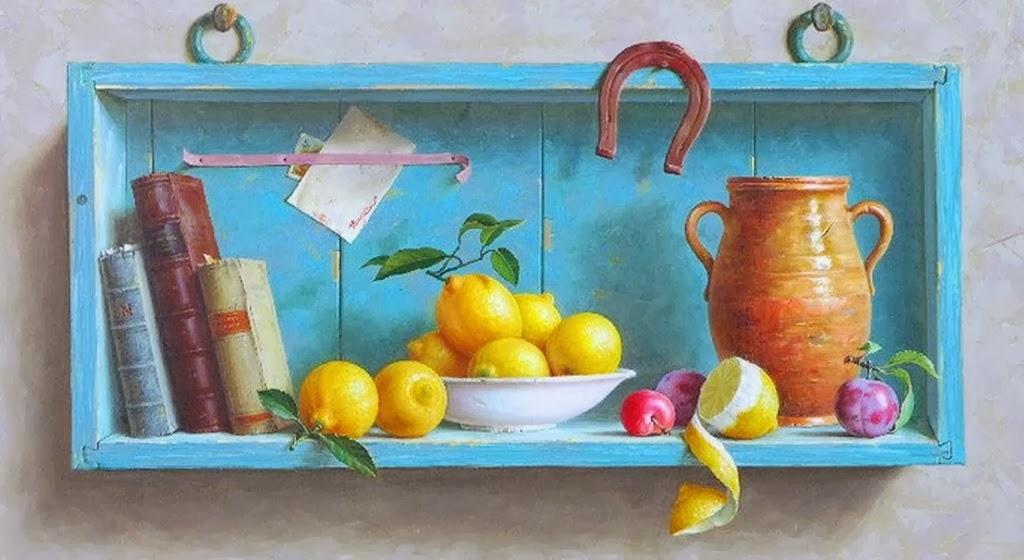 bodegones-con-jarrones-y-frutas