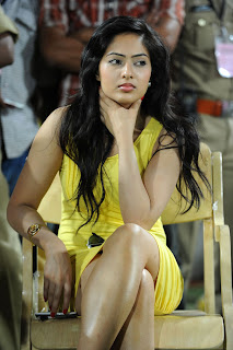 Nikesha Patel in Yellow Short Gown Lovely Glam Doll Pics