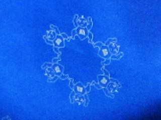 雪の結晶らしき紋様にズームアップした写真