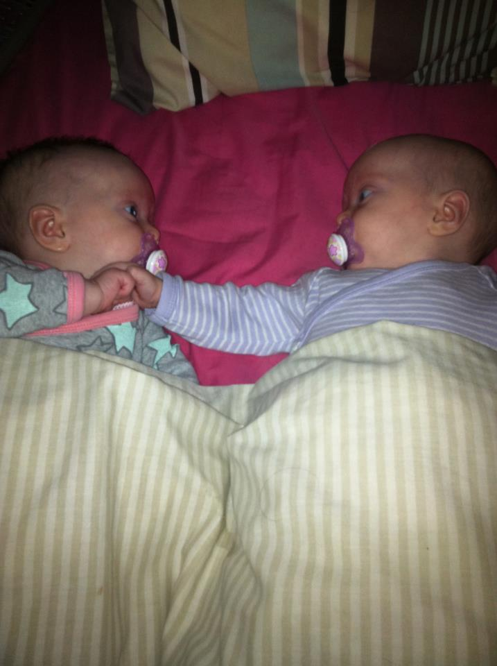 a natural hospital birth of identical twins
