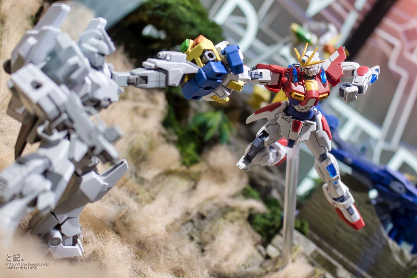 Gundam guy gundam build fighters try diorama gunpla for Domon kasshu build fighters try