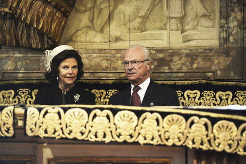 Swedish Royal Family attend church service at the Cathedral of Stockholm, Stockholm in accordance with the opening of the Swedish Parliament.