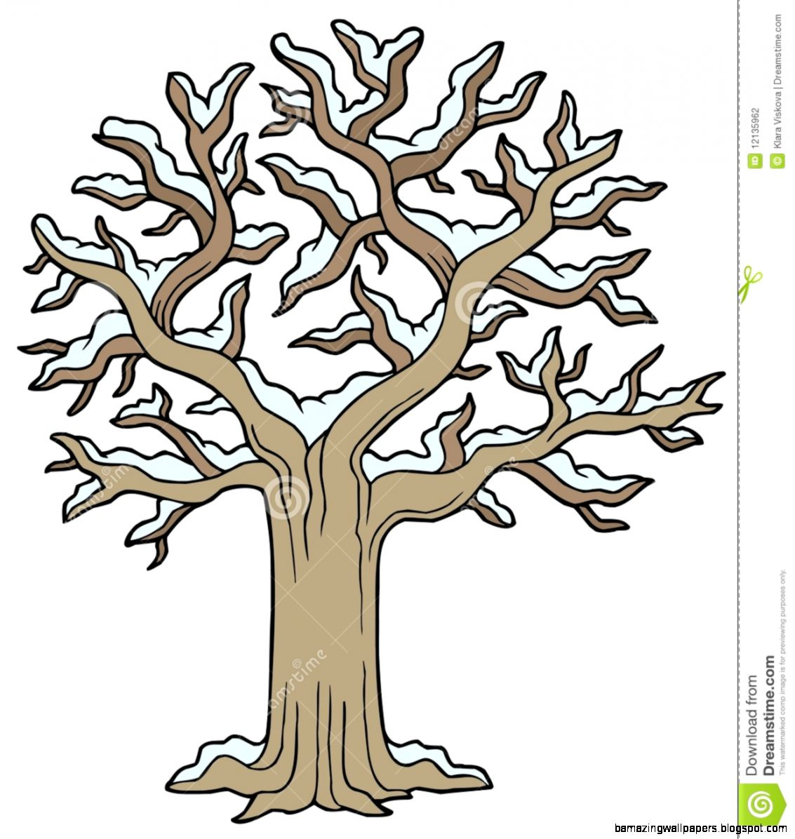 Snowy Tree Clipart   Clipart Kid