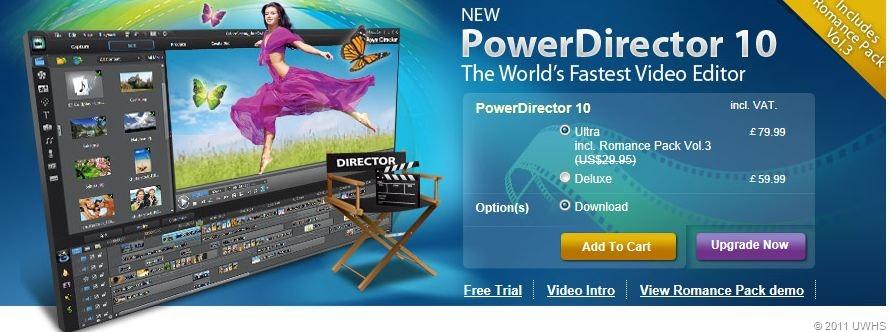 cyberlink powerdirector 10 deluxe full version free download with crack