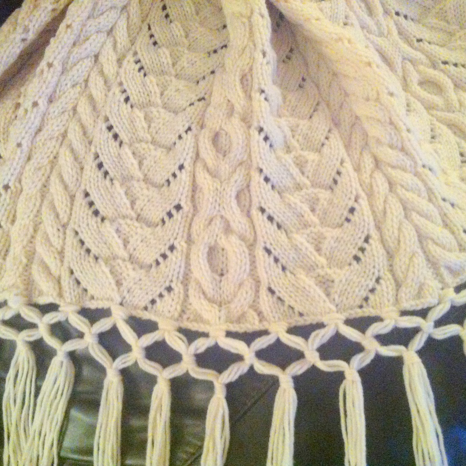 grandmas heirloom aran afghan hand knit pattern