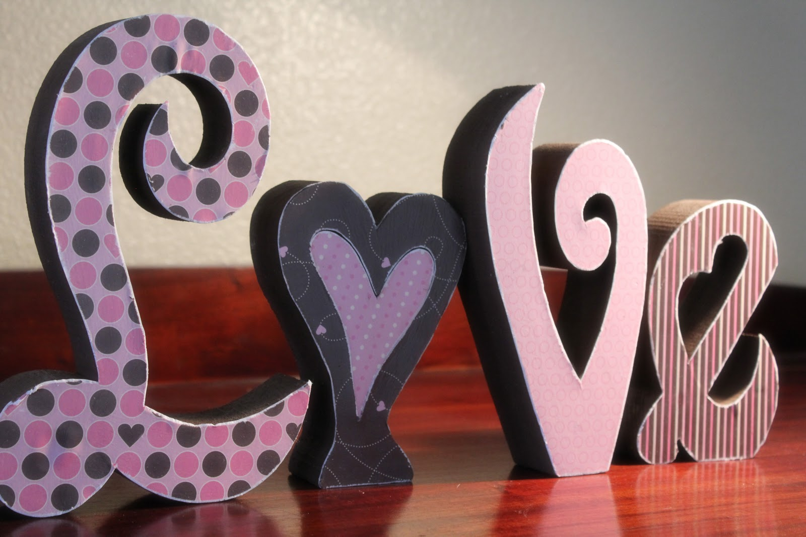 Fit Crafty Stylish And Happy Valentines Wooden Letters