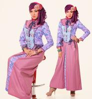Busana muslim lebaran 2014 remaja motif bunga
