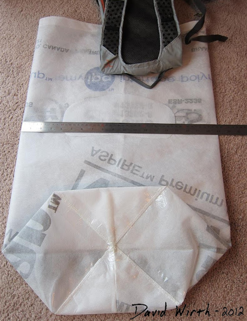 diy how to make a homemade camping backpack, tyvek, waterproof, house wrap, sew