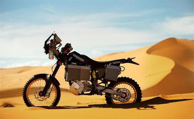 t race una moto el 233 ctrica para el dakar