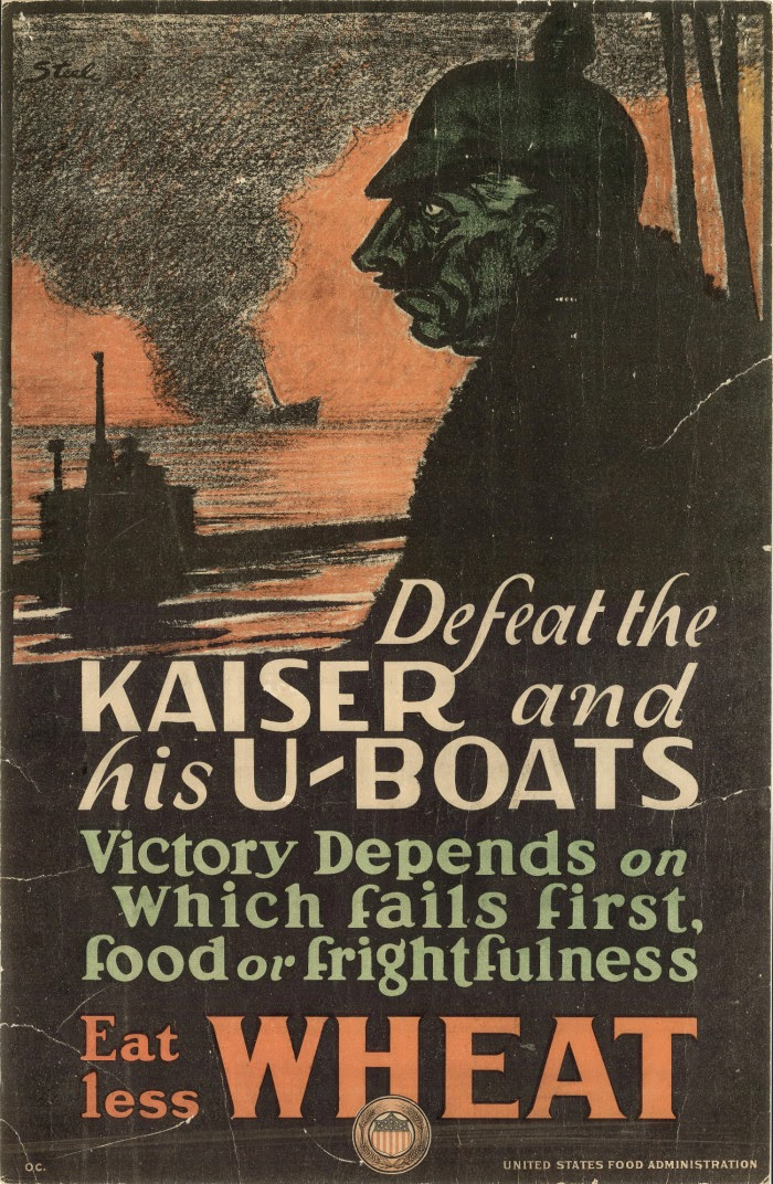 WW1 poster: Defeat the Kaiser and His U-Boats