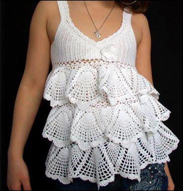 Faldas tejidas a crochet con graficos - Imagui