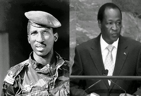 Thomas Sankara (left) and Blaise Compaore: