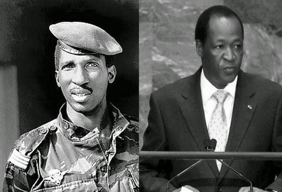 Thomas Sankara (left) and Blaise Compaore: