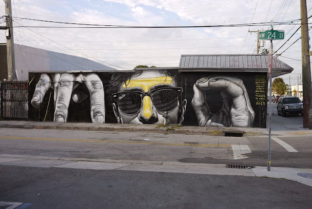 New Street Art Mural By MTO for Art Basel 2013 On The Streets of Miami, Wynwood. 1