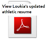 Athletic Resume