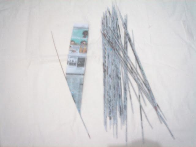 bahan kreasi kertas koran