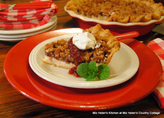 Nutty Cranberry Cheese Pie at Miz Helen's Country Cottage