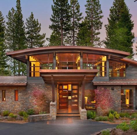 Fachadas de casas modernas en el campo dise os y estilos for Estilos de casas modernas