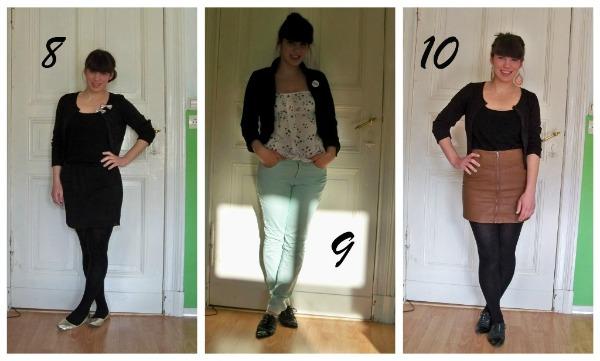 30 Kleidungsstücke für 30 Tage ergeben 30 verschiedene Outfits Woche 2