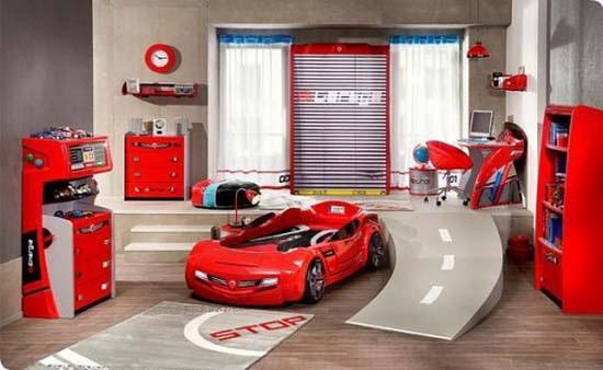 Decora y disena dise os de camas coche para ni os for Cuartos decorados rayo mcqueen