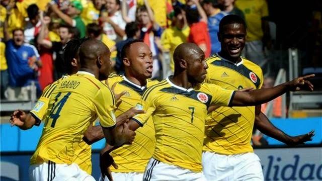 كولومبيا تقهر اليونان بثلاثية و تربح اول 3 نقاط