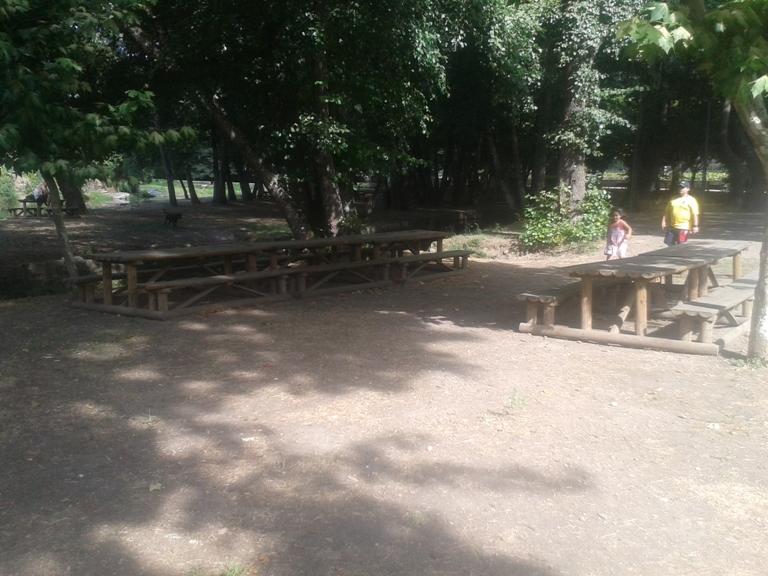 Mesas de Madeira do Parque de Merendas