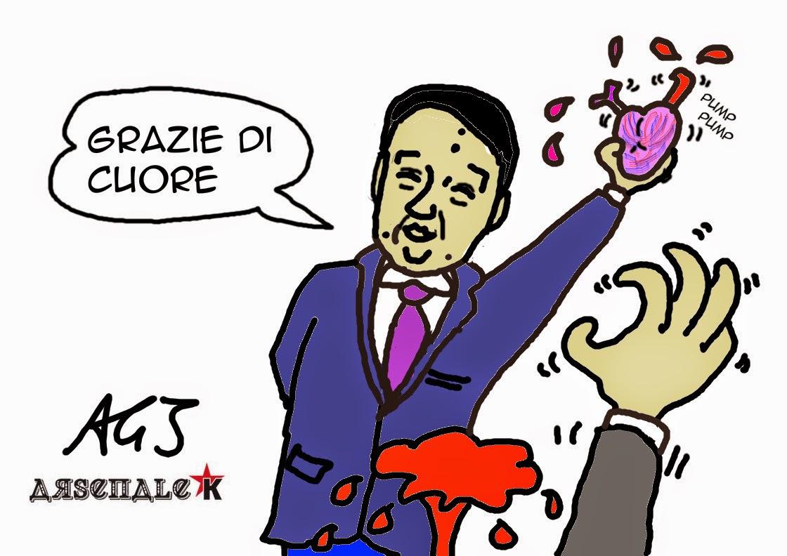 Renzi, Italicum, fiducia, satira, vignetta