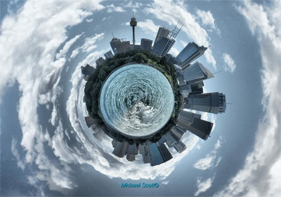 make a Globe/Planet photo manipulation in GIMP