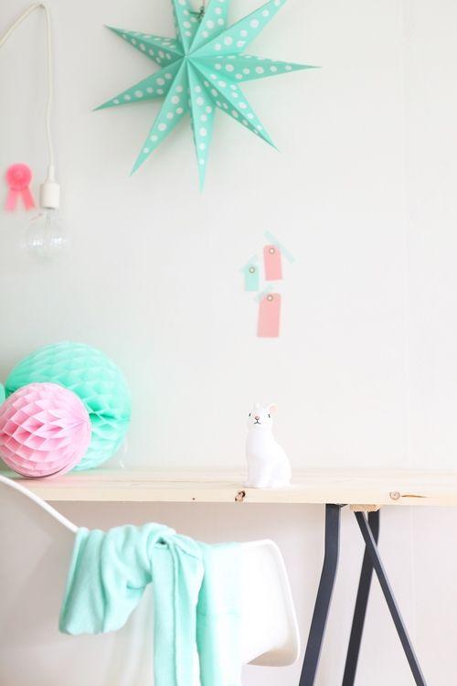Pellmell Crations Planche DInspiration Pour Une Chambre Rose Poudre