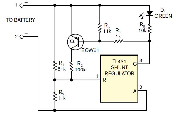 Monitor de bateria TL431