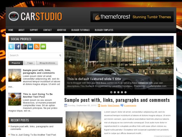CarStudio Blogger Template