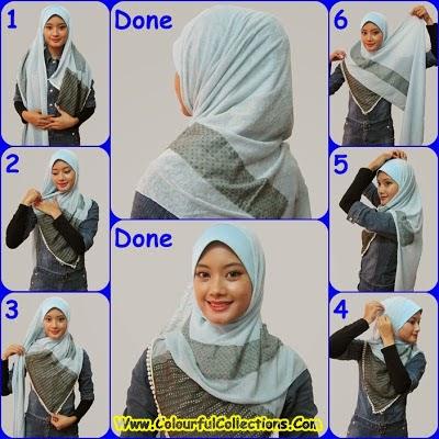 cara pakai shawl 5