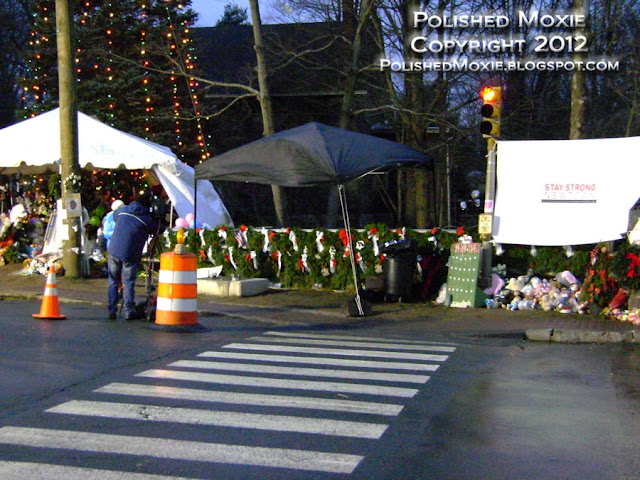 Image of wreaths for the victims in Sandy Hook.