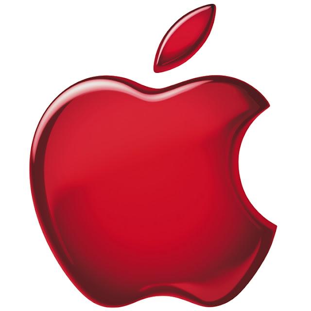 apple logo red