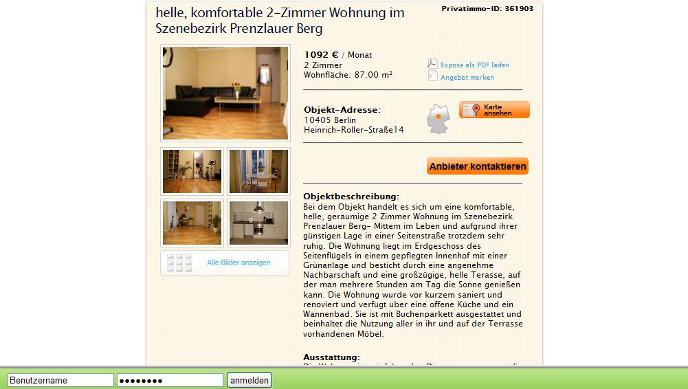 Zimmer Wohnung Prenzlauer Berg