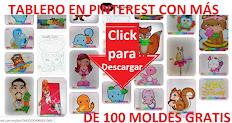 ¡ 110 Moldes Gratis en Pinterest!