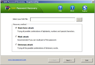 RAR Password Recovery 1.80 (registered)