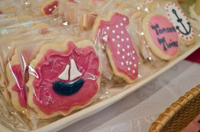 nautical baby shower for twin girls