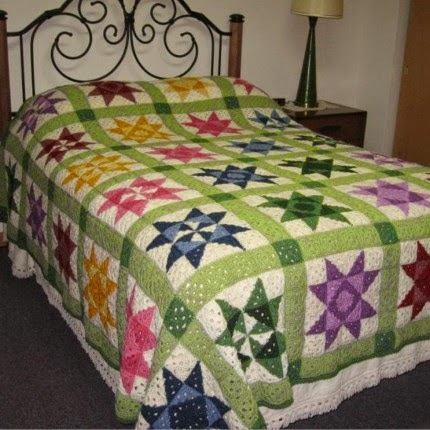 Free Crochet Patterns For Quilts : Crochet For Children: Crochet Quilt Afghan Pattern