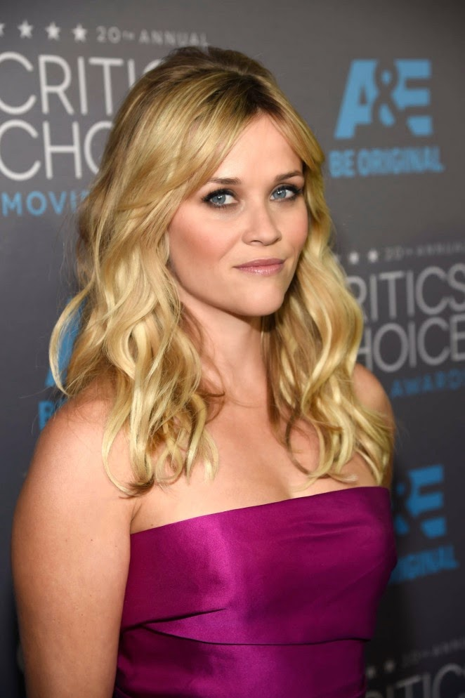 Reese Witherspoon wears strapless Lanvin at the 2015 Critics' Choice Movie Awards